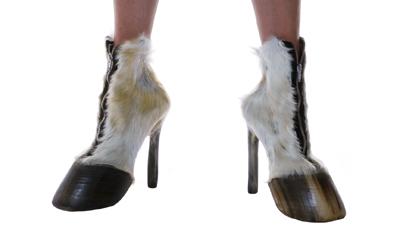 Designer Makes Women's High Heels From Horses' Hooves