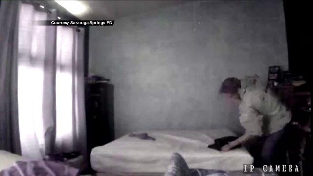 Jordan Lindquist, 19, of Saratoga Springs, Utah caught on camera violently beating a cat